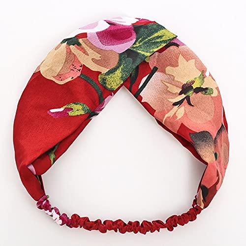 ASDGSDS Fleurs artificielles, Ornement Adulte Chapeaux Mode Filles Bandeaux Femmes Impression Bandeau coloré, FD3,5, Taille Convient à Tous