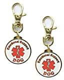 Xpress ID Emotional Support Dog Keychain | Set of 2