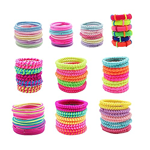 U/D 100 Pcs Baby Hair Ties, Cotton Toddler Hair Ties for Girls and Kids,...