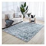 XiinxiGo Alfombra Salon Shaggy Tie-Dye - Alfombras Dormitorio Modernas Pelo Largo Lavables - para Comedor, Dormitorio,...