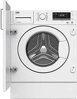 Beko HITV8733B0 Integrado Carga frontal A Blanco lavadora - Lavadora-secadora (Carga frontal, Integrado, Blanco, Izquierda...