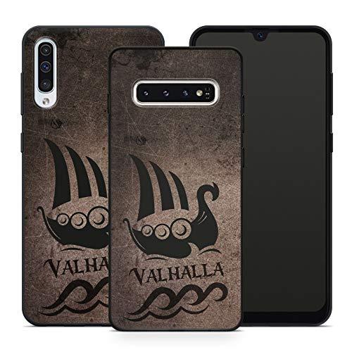 Handyhülle Thor Walhalla für Samsung Silikon Odin Valhalla MMM Berlin Hülle Viking Gothic Freya, Kompatibel mit Handy:Samsung Galaxy S8, Hüllendesign:Design 2   Silikon Schwarz