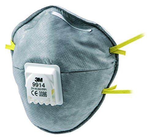Respirador de partículas de la serie de 3m 9914, blanco, paquete de 2