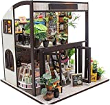 Mini Kit De Casa De Muñecas, Kit De Juguete De Madera Hecha A Mano De Madera 3D con Luces LED De Muebles - Hermosa Decoración del Hogar