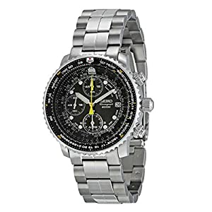 Fashion Shopping SEIKO Men's Pilot Watch Alarm Chronograph