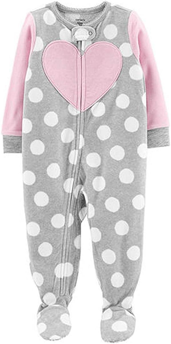 Carter's Baby Girls' Infant Microfleece Blanket Sleeper Grey