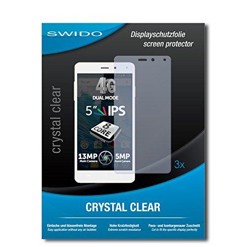 SWIDO Bildschirmschutzfolie für Allview E4 [3 Stück] Kristall-Klar, Extrem Kratzfest, Schutz vor Öl, Staub & Kratzer/Glasfolie, Bildschirmschutz, Schutzfolie, Panzerfolie