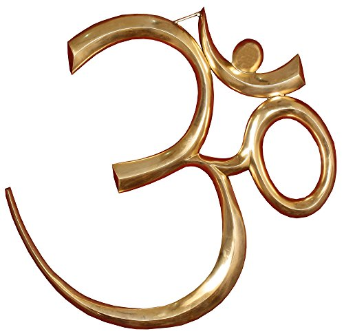 Exotic India Large Om (AUM) Wall Hanging - Brass Statue