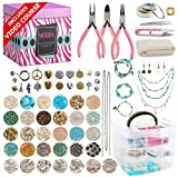 Modda Deluxe Jewelry Making Kit, Jewelry Making Supplies Includes Instructions, Beads, Necklace, Bracelet, Earrings Making, Crafts for Adults, Beginners, Christmas Gift for Teens, Girls, Moms, Women