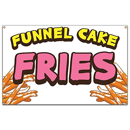 "Funnel Cake Fries 60"" Banner Concession Stand Food Truck Single Sided"