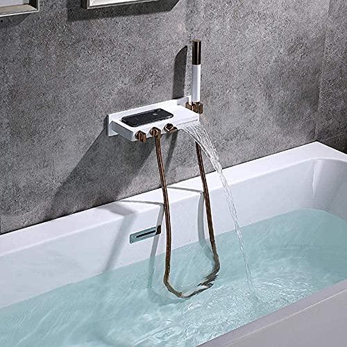 Grifo mezclador para ducha de baño con cabezal de ducha Manguera de...