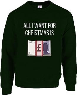 Christmas Sweat Emoji Money All I Want for Christmas is Cash Funny Top Sweatshirt