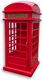 Bankour Play (Fur Elise) Wooden Telephone Booth Music Box with Sankyo Musical Movement