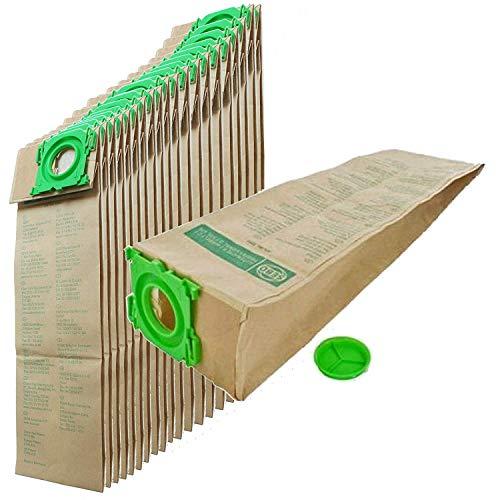 SEBO EBY5093PCX2 Sacs à poussière en Papier, Plastique, Marron/Vert, Standard