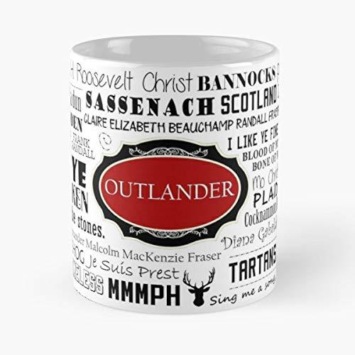 Outlander Diana Gabaldon Scotland Scottish Jamie Fraser Mug Coffee Mugs For Gifts - Best 11 Ounce Cerámica Coffee Mug Gift