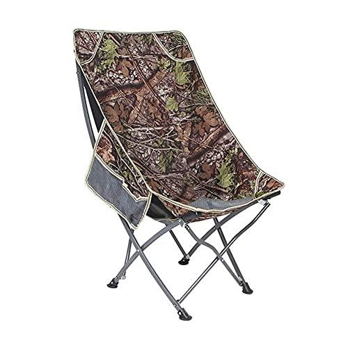 UOOD Sedia da Campeggio Pieghevole, Sedia da Esterno Portatile Leggera per Giardino da Pesca Escursionista Backpacking Viaggio Sedile Esterno Solido e Durevole (Color : A)