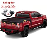 Coverify Truck Bed Cover Short Bed (5.7′ Box) for Ford F150/F150 Raptor Truck Bed Tarp Super Duty Cargo Net