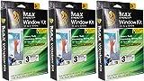 Duck MAX Strength Heavy Duty Insulating Film Window Kit, 3-Window, 62-Inch x 126-Inch, Indoor, 284351 3 Pack