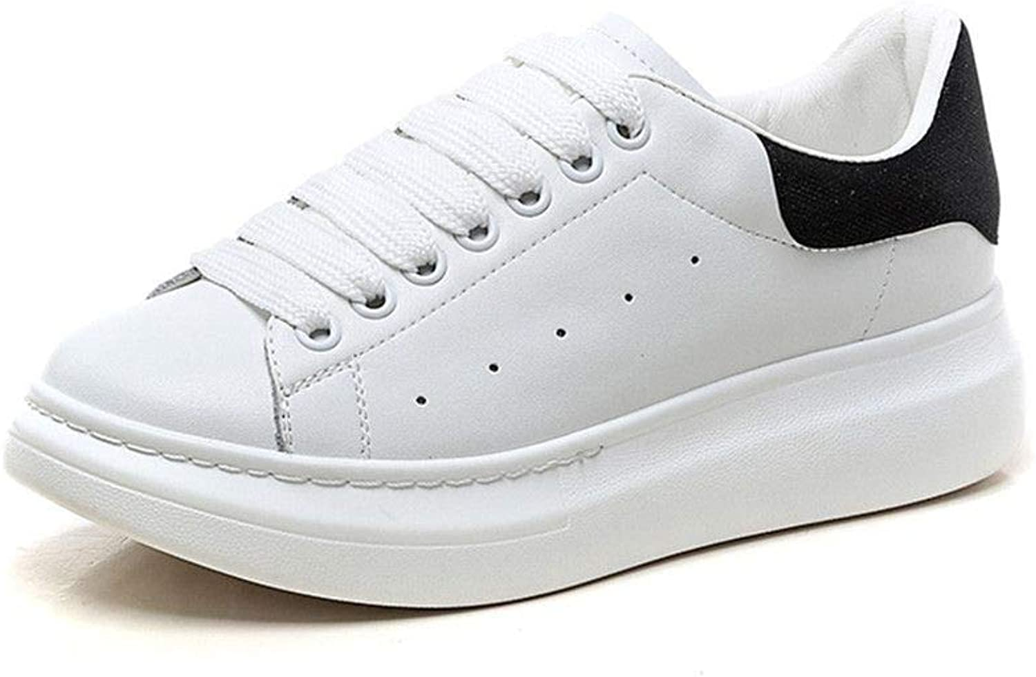 Newnorthstar Spring Autumn Genuine Leather Sneakers Women White shoes Fashion Lace-up Platform shoes for Women