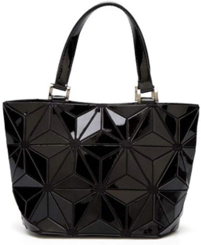 Damenmode PU Umhängetasche Wild Large Capacity Handtasche Tagesrucksack (Farbe (Farbe (Farbe   SCHWARZ, größe   23  18cm) B07LFZLVCW  Eleganter Stil d42bff
