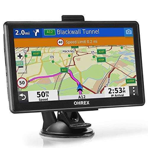 OHREX Bluetooth GPS Navigation for Car Truck RV (7 inch), Trucker GPS Navigation Systems, GPS for...