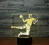 Handball 3D Lampes Illusions Optique Led Veilleuse 7 Couleurs Lumière Dimmable Touch Switch Usb/Batterie Insérer Enfants D Cadeau De Noël D'Anniversaire