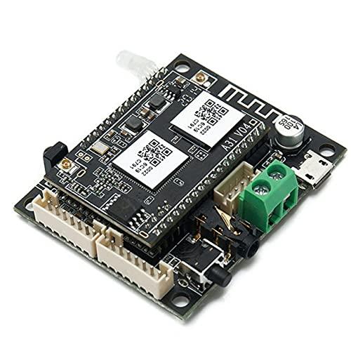MARSPOWER WiFi Wireless 5.0 Receptor de Audio de Red inalámbrica Dos en uno Módulo inalámbrico Interfaz de expansión de recepción inalámbrica - Negro 8.8x8.8x1.8mm