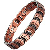 Jeracol Mens Vintage Magnetic Copper Bracelets for Arthritis Pain Relief Strong Magnets Therapy