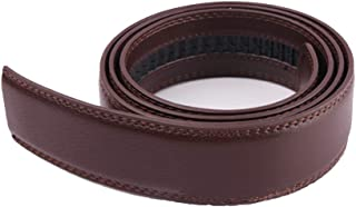 Men's Belt Strap Genuine Leather Causal Dress Belt Strap for Men Fashion & Classic Designs for Work Business and Casual By CHOEES(Brown)