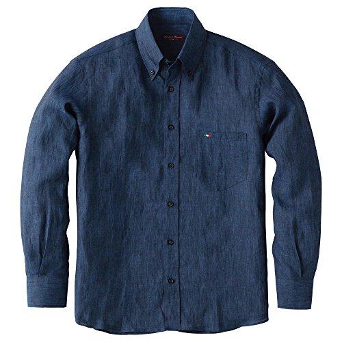 ジオバンニ・ロスミーニ『イタリア製リネンボタンダウンシャツ』