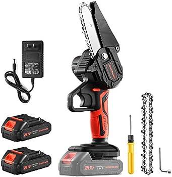 Greentooler 4 Inch Electric Mini Chainsaw