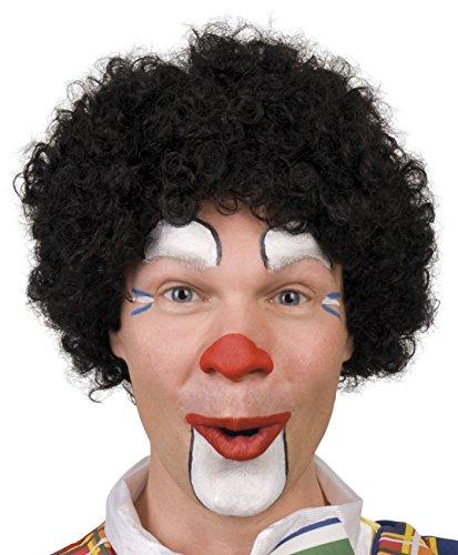 Boland 85985 – Perruque frisée de clown - Noir