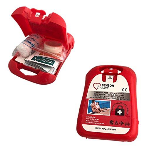 19 tlg. Mini Erste Hilfe Set für Camping & Outdoor, Verbandskasten, Reiseapotheke, Sanitätsbox für Reise, Festival und Wandern