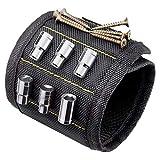 TIMESETL Pulsera Magnética Ajustables con 10 Súper Imanes, Sujetar Herramientas Pulsera magnética para guardar Clavos/Tornillos/EBrocas/Pernos