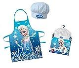 Kinder Küche Set, Schürze und Mütze CHEFF-Frozen