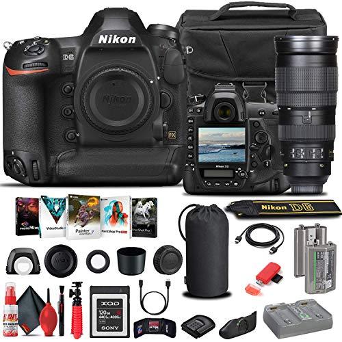Nikon D6 DSLR Camera (Body Only) (1624) + Nikon 200-500mm Lens + 120GB XQD Card + EN-EL18C Battery + Case + Corel Software + HDMI Cable + Cleaning Set + Tripod + More (International Model) (Renewed)