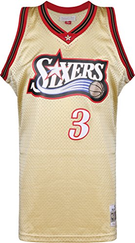 Mitchell & Ness Swingman Philadelphia 76ers Iverson Camiseta sin Mangas Gold