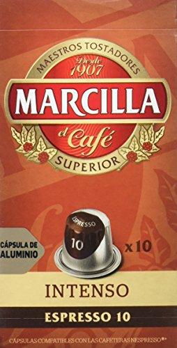 Marcilla Café Intenso Intensidad, 10 Cápsulas