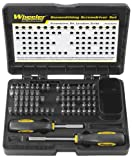 Wheeler Engineering 72-Piece Screwdriver Set with 2 Screwdriver Handles, Bits, and Storage Case for...