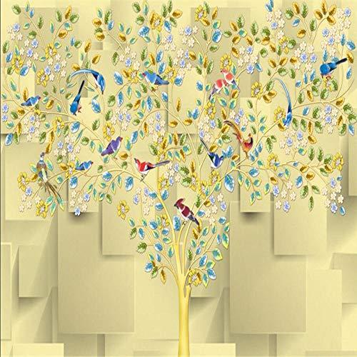 Moderne Hintergrund Große Malerei Chinesische Vogel Zweig Akribische Murales De Pared Tapete Hotel Badroom Mural Für-300 * 210Cm