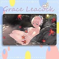 GraceLeacock カードゲームプレイマット 遊戯王 プレイマット 僕は友達が少ない かしわざき せな アニメグッズ TCG万能 収納ケース付き アニメ 萌え カード枠なし (60cm * 35cm * 0.4cm)