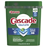 Cascade Complete Dishwasher Pods, ActionPacs Detergent, Fresh...