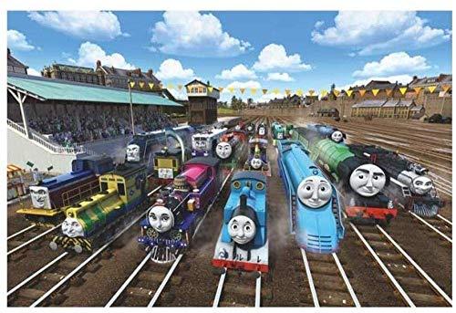 leomuzi - Puzzle para adultos (1000 Thomas tren jigsaw, puzles para niños, juego de juguetes y juguetes