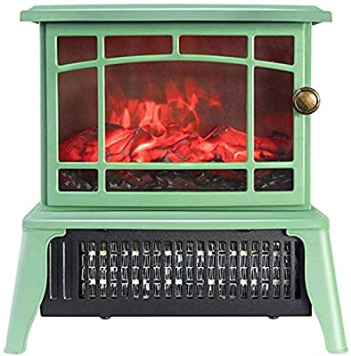 Lectric Fireplace,1500W Electric Canterbury Fireplace Suite With Adjustable Thermostat Control, Safety Cut-Out System Realistic LED Flame Effect