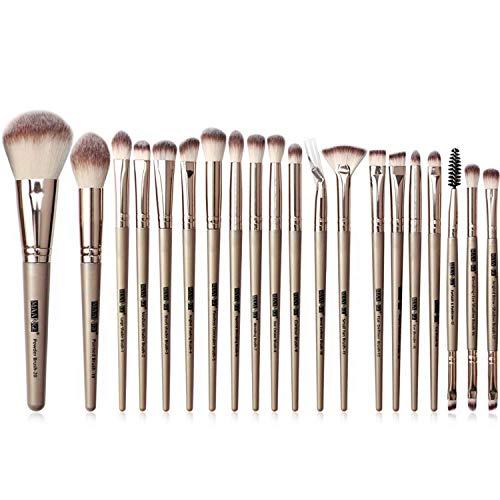 JFFFFWI 20 pièces de Haute qualité Pinceau de Maquillage Professionnel Ensemble Kabuki Pinceau Fard à paupières Fard à paupières Crayon à Sourcils et Pinceau à lèvres Poils Super Doux pour Les Maqui