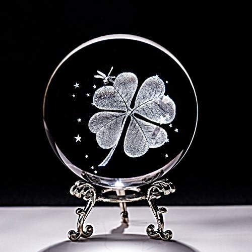 5% OFF Crystal Ball 6CM Four Leaf Import Las Clover Miniatures 3D
