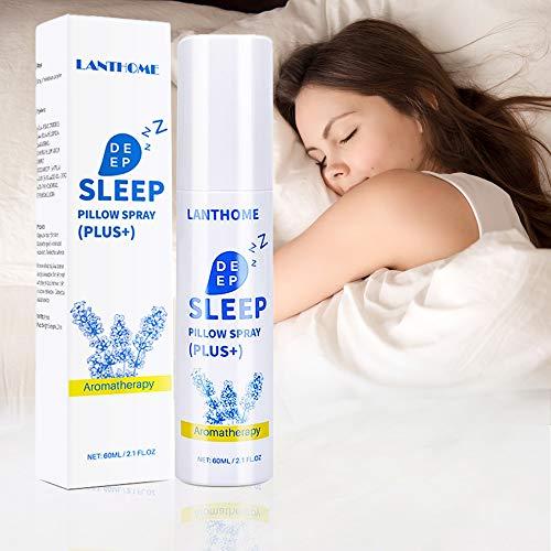 Spray Para Dormir Profundo, Spray De Almohada Lavanda Deep Sleep Aid, Vaporizador Con Aceites Esenciales Naturales De Lavanda Y Plantas Para Dormir Y Relajarse, Almohada Mist Relajante