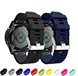 Supore Correa de Reloj para Fenix 5S, Correa de Banda de Reloj de Repuesto de Silicona Suave para Fenix 5S/Fenix 5s Plus/Fenix...