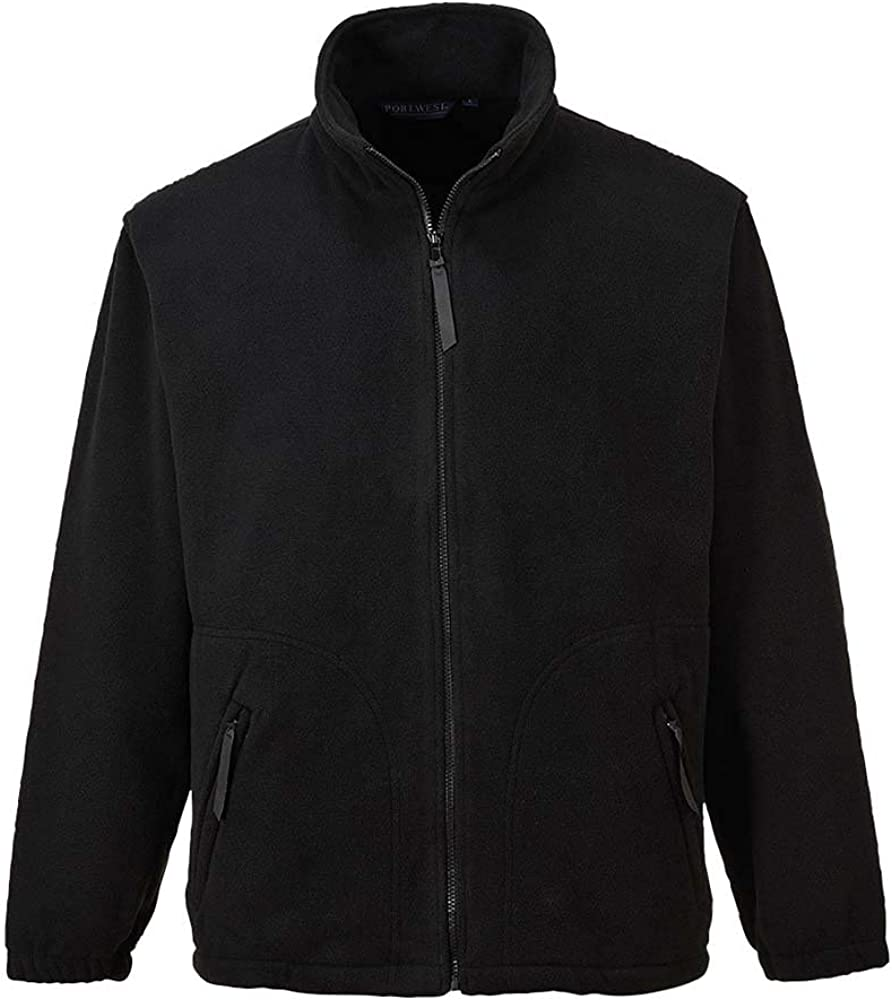 Portwest Workwear Mens Argyll Heavy Fleece Black 3 XL