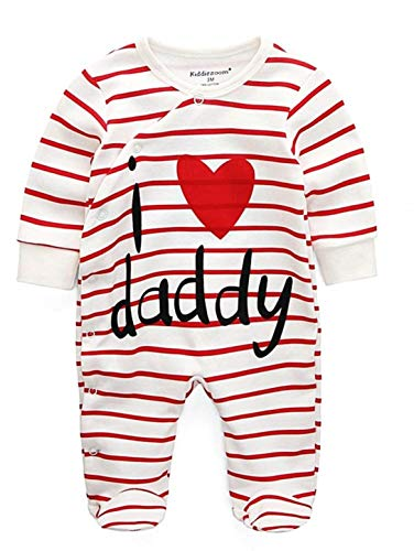 KIRALOVE Baby Onesie - niños - Amo a papá - Mameluco - Amo a papá - papá - algodón - Lindo - cm 80 - Ropa de bebé i Love Daddy Dad